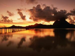 Mt. Otemanu and Lagoon at Sunset, French Polynesia by Peter Hendrie