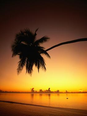 Sunset Over Aitutaki Lagoon, Aitutaki, Southern Group, Cook Islands by Peter Hendrie