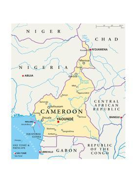 Cameroon Political Map by Peter Hermes Furian