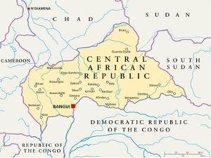 Central African Republic Political Map by Peter Hermes Furian