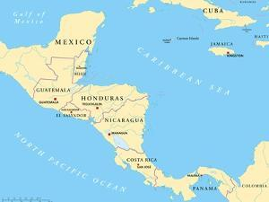 Central America Political Map by Peter Hermes Furian