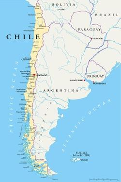 Chile Political Map by Peter Hermes Furian