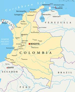 Colombia Political Map by Peter Hermes Furian
