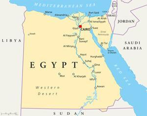 Egypt Political Map by Peter Hermes Furian