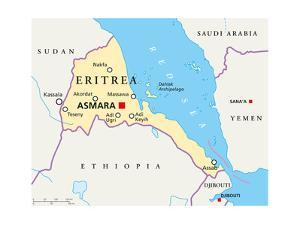 Eritrea Political Map by Peter Hermes Furian