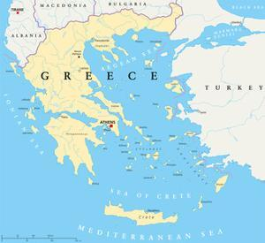 Greece Political Map by Peter Hermes Furian