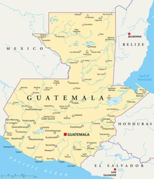 Guatemala Political Map by Peter Hermes Furian