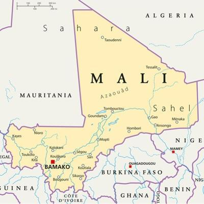 Mali Political Map by Peter Hermes Furian