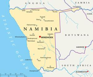 Namibia Political Map by Peter Hermes Furian