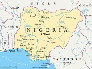 Nigeria Political Map by Peter Hermes Furian