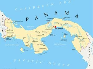 Panama Political Map by Peter Hermes Furian