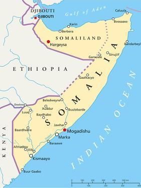 Somalia Political Map by Peter Hermes Furian