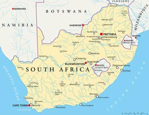 South Africa Political Map by Peter Hermes Furian