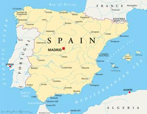 Spain Political Map by Peter Hermes Furian