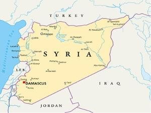Syria Political Map by Peter Hermes Furian