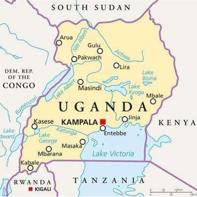 Uganda Political Map by Peter Hermes Furian