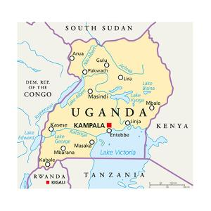 Uganda Political Map by Peter Hermes Furian