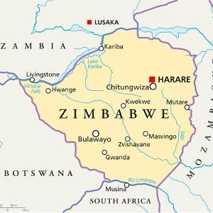 Zimbabwe Political Map by Peter Hermes Furian
