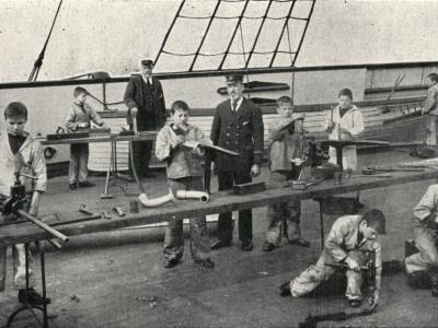 Carpentry and Plumbing, Training Ship Wellesley, North Shields