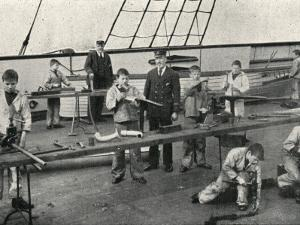 Carpentry and Plumbing, Training Ship Wellesley, North Shields by Peter Higginbotham