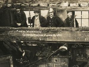 Firemen at Chipping Norton Workhouse, Oxfordshire by Peter Higginbotham
