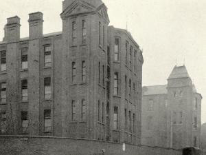 Infirmary Ward Blocks at Hackney Union Workhouse on Homerton High Street by Peter Higginbotham