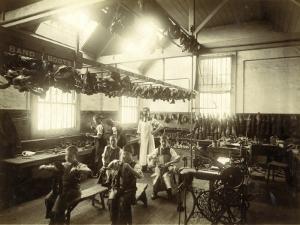 Kensington and Chelsea District School, Shoemaker's Shop by Peter Higginbotham