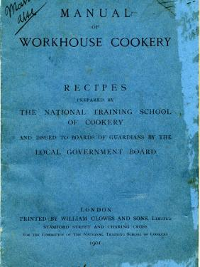 Manual of Workhouse Cookery, Cover by Peter Higginbotham