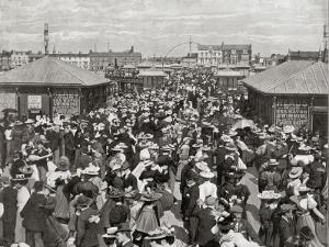 One of the Piers at Blackpool, Lancashire, Packed with Dancing Couples by Peter Higginbotham