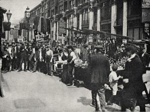 Petticoat Lane Market, East End of London by Peter Higginbotham