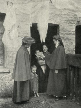 Salvation Army Slum Sisters on a Home Visit by Peter Higginbotham