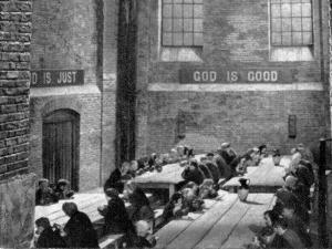 Workhouse Dining Hall, Oliver Twist Film, 1948 by Peter Higginbotham