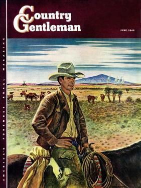 """Cattleman,"" Country Gentleman Cover, June 1, 1946 by Peter Hurd"