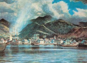 Honolulu Harbor 1850 by Peter Hurd
