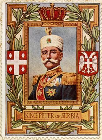 Peter I King of Serbia, Stamp