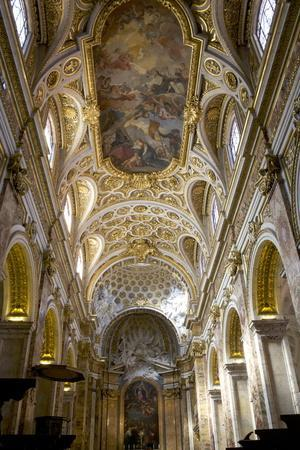 Interior of Church of San Luigi Dei Francesi, Rome, Lazio, Italy, Europe
