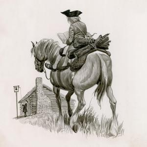 George Washington Riding to School, Taking Logs for the Fire by Peter Jackson