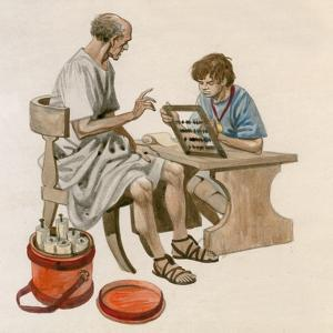 Julius Caesar as a Boy, Learning to Count Using an Abacus by Peter Jackson