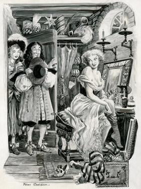 King Charles II Visiting Nell Gwynn in Her Dressing Room by Peter Jackson
