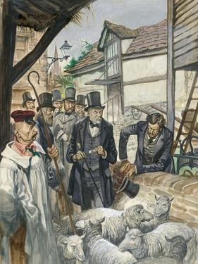 Louis Pasteur Sees the Results of His Experiment with a Vaccine for Anthrax by Peter Jackson