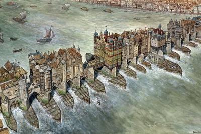 Old London Bridge, C 1600