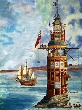 The First Eddystone Lighthouse by Peter Jackson