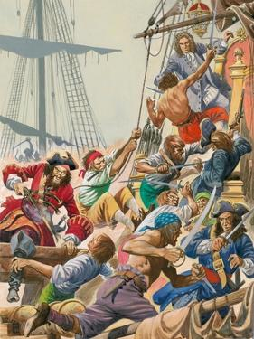 When Pirates Sailed the Seas, Blackbeard and His Pirates Attack by Peter Jackson