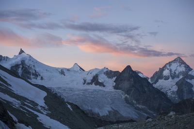 Snowy Mountain Landscape, Mountain Range, Bishorn, Summit, Trekking, Switzerland