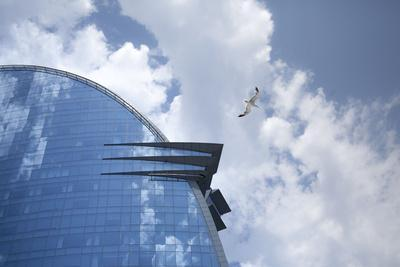 The hotel W of Barcelona, glass front, Catalonia, Spain