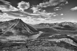 A Scenic View of Duo Lakes and the Snake River in the Peel River Watershed by Peter Mather