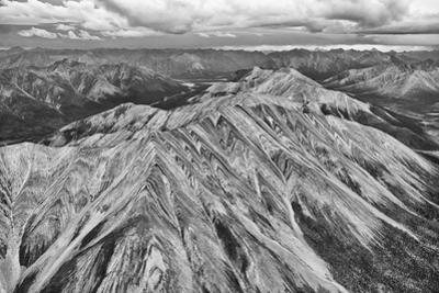 Aerial of Striped Mountain in North Yukon, Mackenzie Mountains by Peter Mather