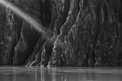 Black and White Image of Peel Canyon on the Peel River by Peter Mather