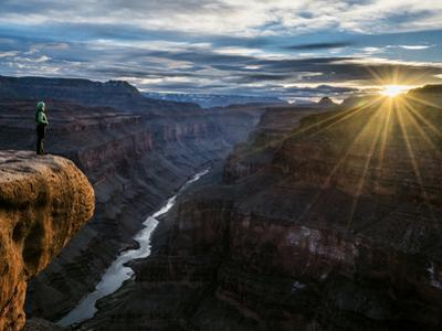 A Former Grand Canyon Ranger Watches a Sunrise over Conquistador Aisle by Peter Mcbride