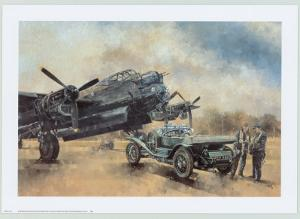 A Lancaster and a Bentley by Peter Miller